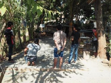 L'influence française - Laotiens à la pétanque à Luang Prabang