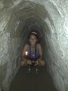 Intérieur des tunnels, bien élargi pour les touristes