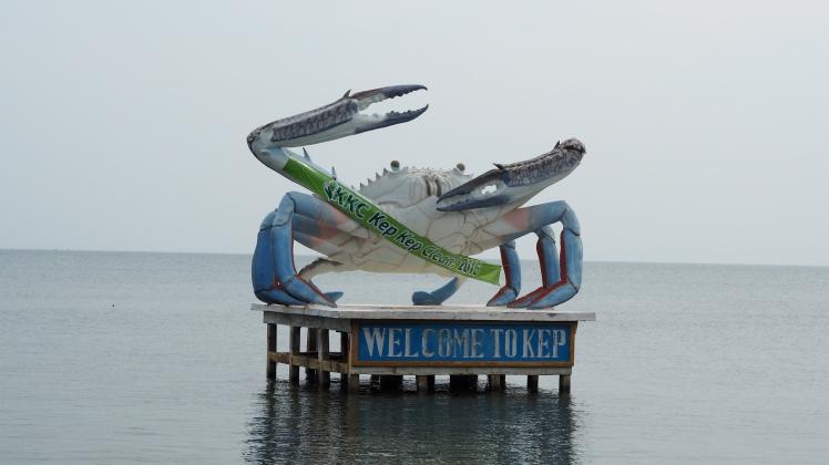 Fameux crabe bleu de Kep